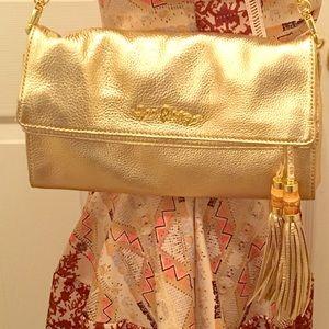 NWT Lilly Pulitzer Gold Banyan Clutch